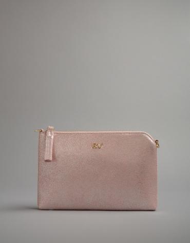 Bolso clutch Lisa rosa metalizado