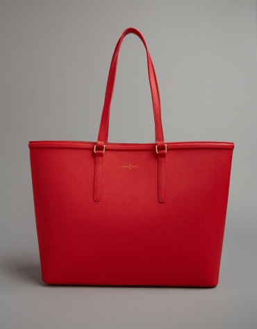 Red Bomber shopping bag