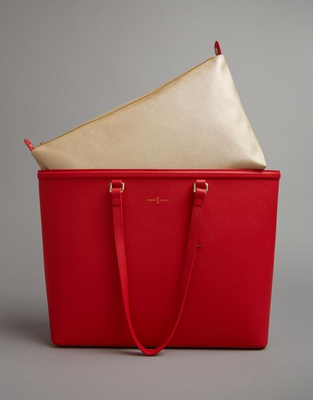 Red Bomber shopping bag