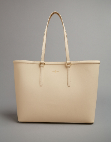 Beige Bomber shopping bag