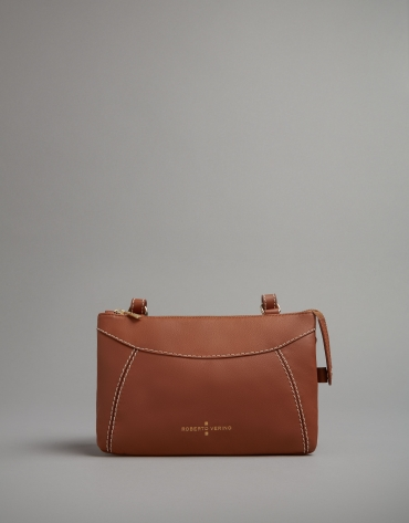 Camel leather Loob shoulder bag