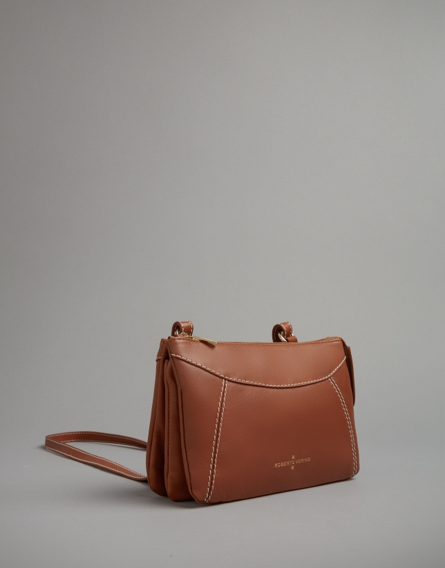 Camel leather Loob shoulder bag