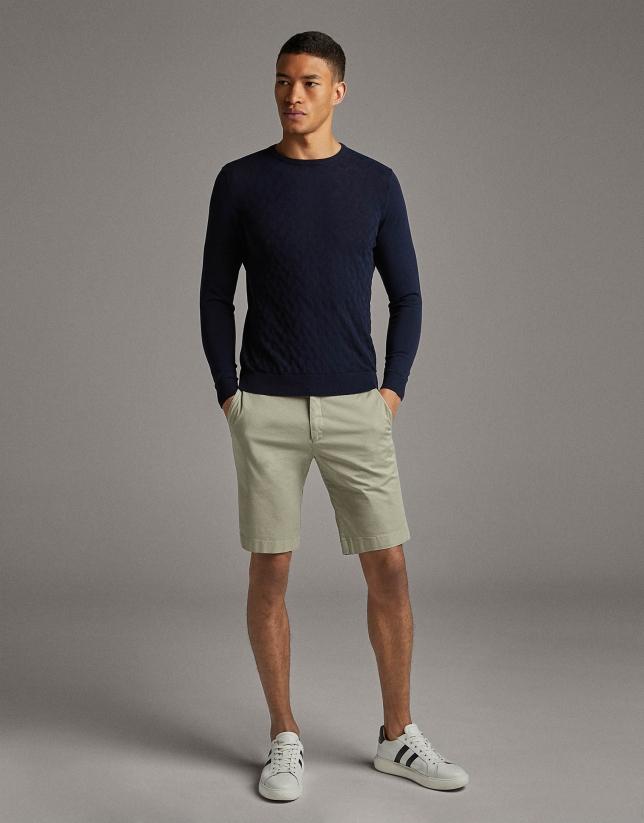 Bermuda algodón beige