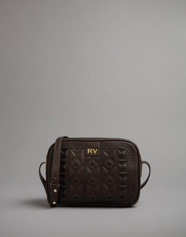 Brown leather Tiébele Taylor shoulder bag