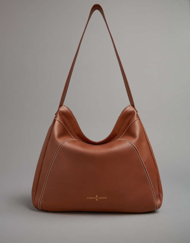 Camel leather Loob hobo bag