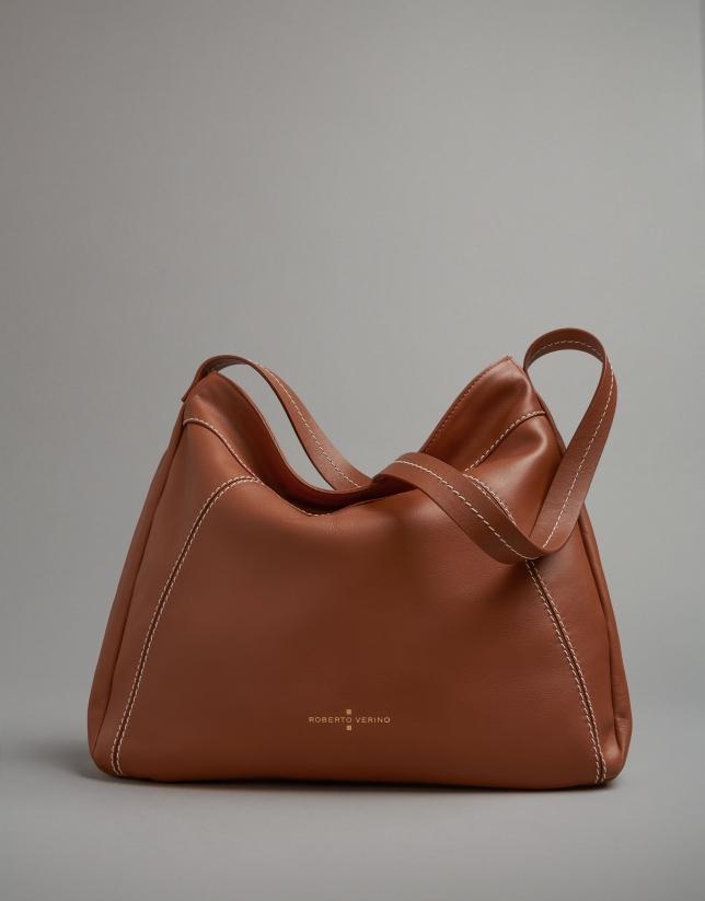 Camel leather Loob hobo bag