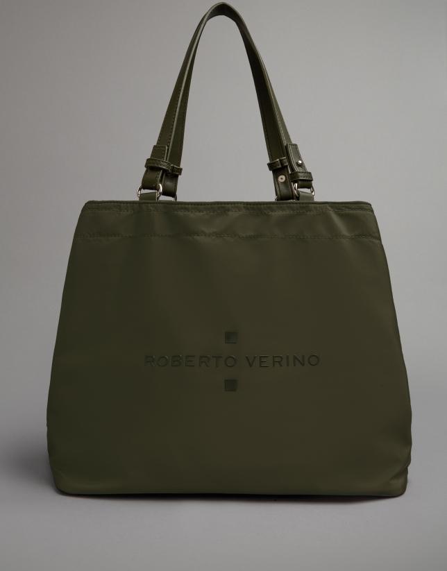 Khaki nylon Roxy hobo bag