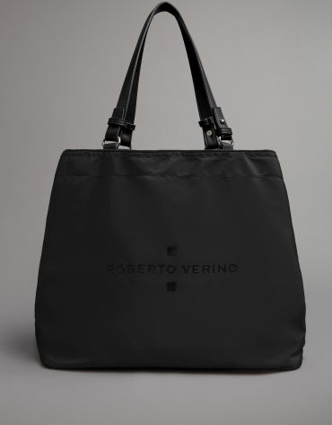 Black nylon Roxy hobo bag