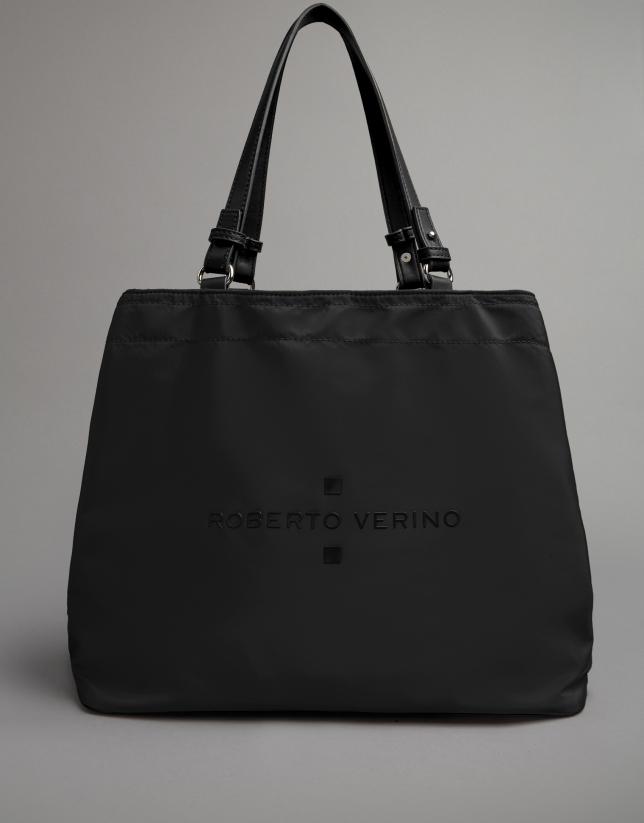 Black nylon Roxy hobo bag
