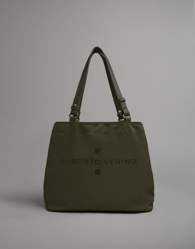 Khaki nylon Roxy nano-hobo bag