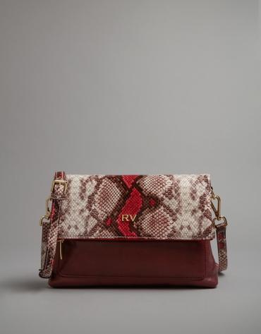 Sac à bandoulière Abisal imprimé serpent rose