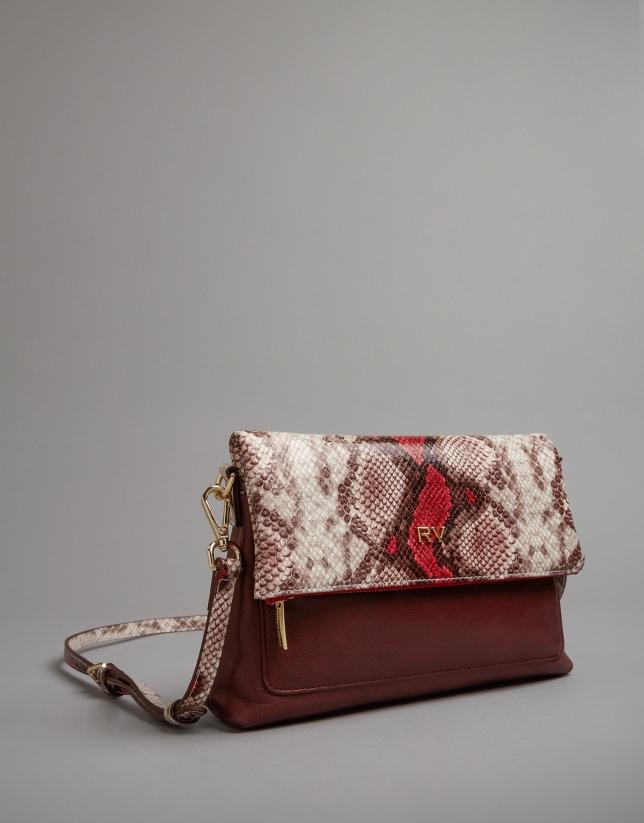 Pink snakeskin print Abisal shoulder bag