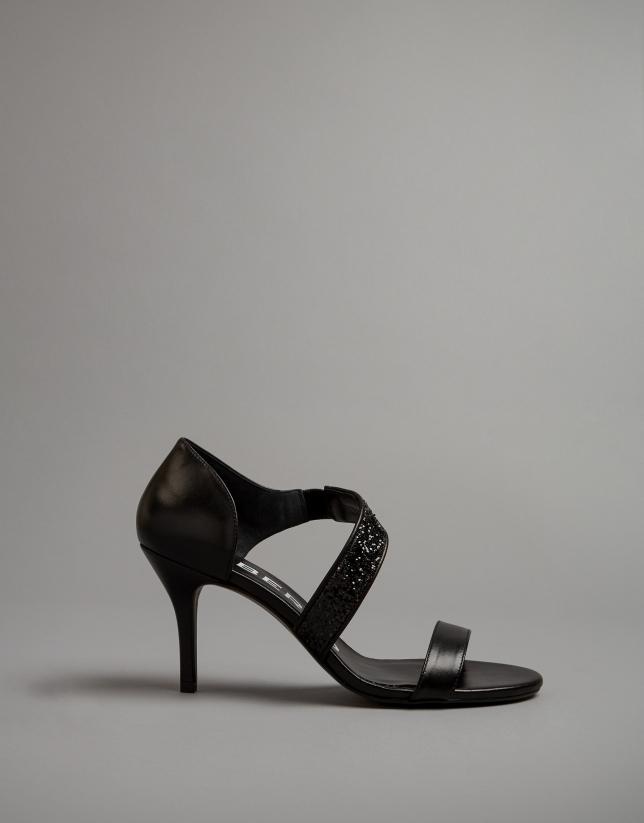 Sandales noire en cuir