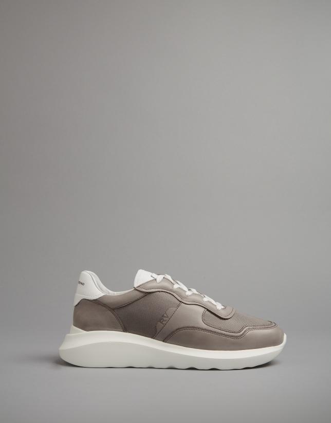Sneakers en cuir marron