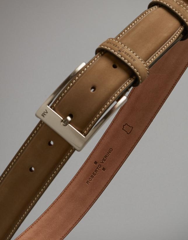 Camel nobuck belt