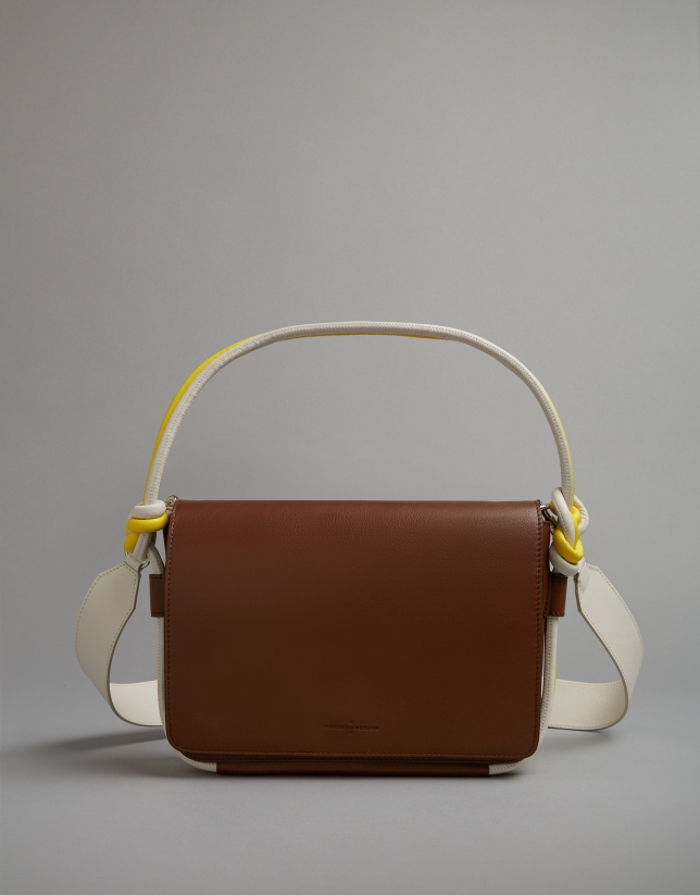Joyce shoulder bag tubular brown