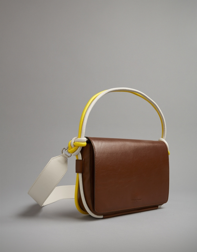 Joyce shoulder bag tubular brown