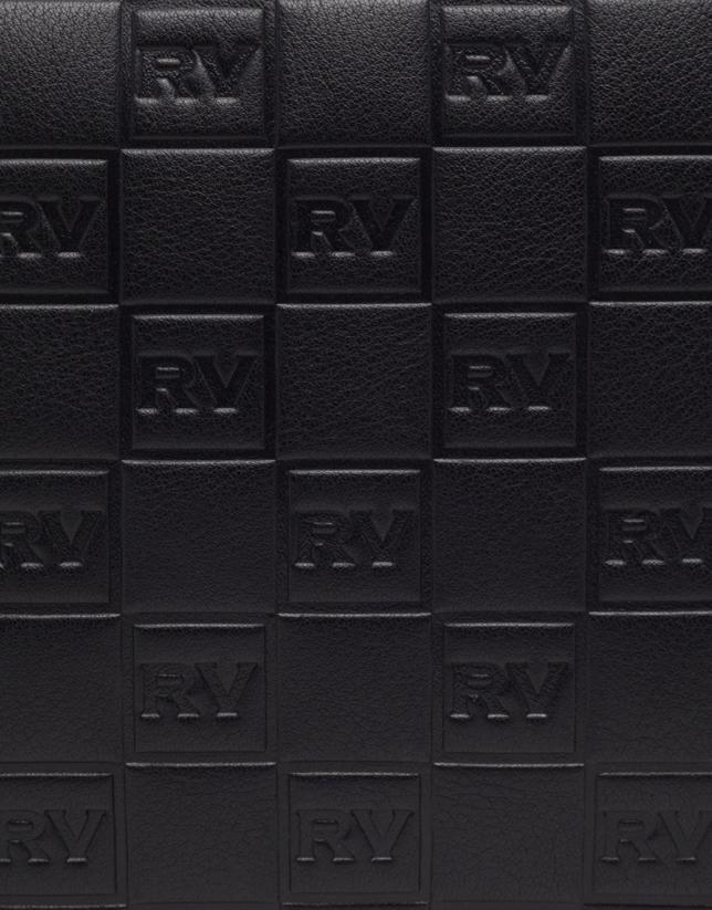 Black leather Taylor tatoo bag with RV logo