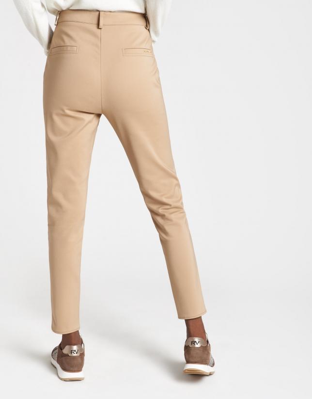 Camel high waist cigarette pants
