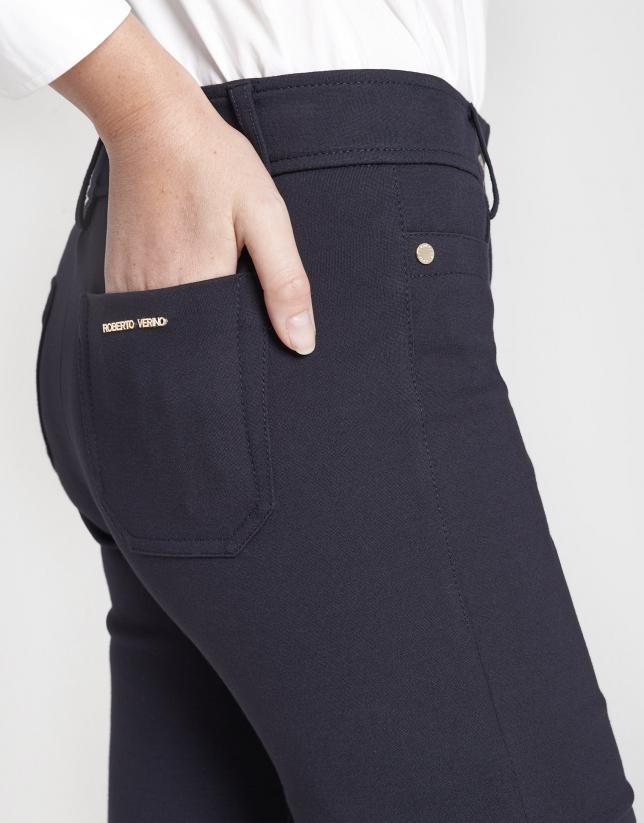 Blue cigarette pants