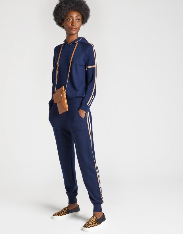 Pantalón jogging punto azul