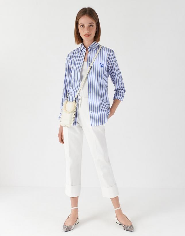 Camisa rayas azul y blanco Mujer PV2017 | Roberto Verino