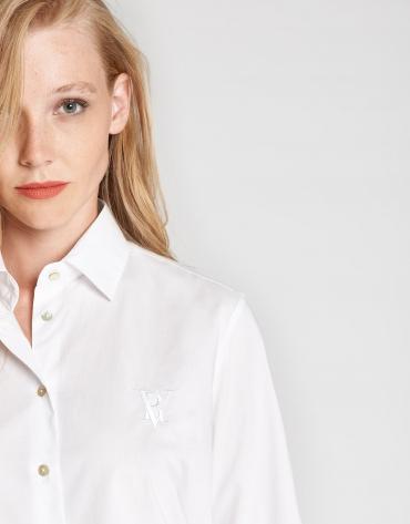 Camisa algodón blanco logo