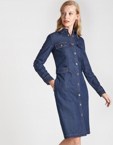 Shirtwaist jean dress