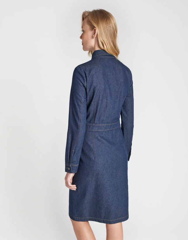 Shirtwaist jean dress