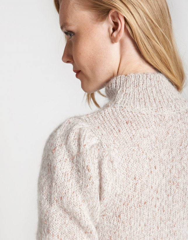 Gold fine knit sweater