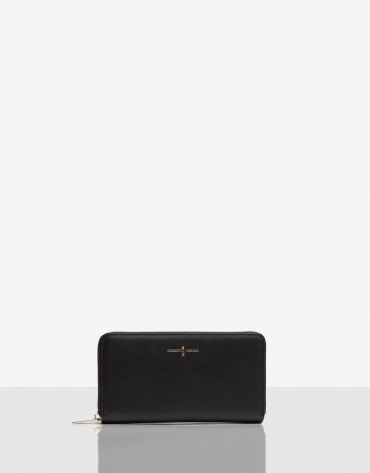 Big black Saffiano leather Juliete billfold