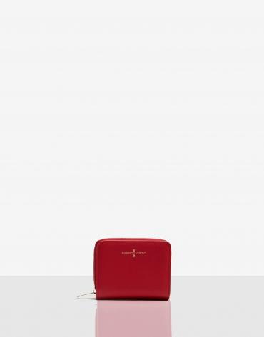 Billetera mediana Juliete piel saffiano roja