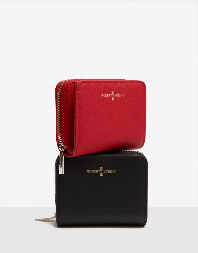 Medium red Saffiano leather Juliete billfold