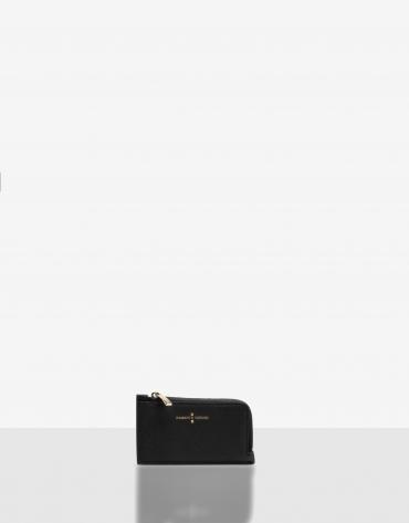 Black Saffiano leather Juliete coin purse