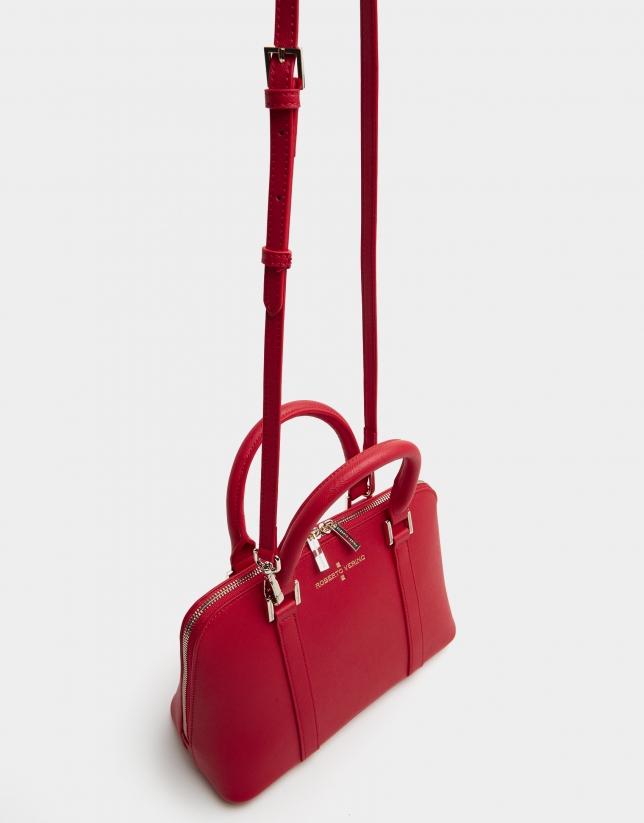 Red Saffiano leather Lupita handbag