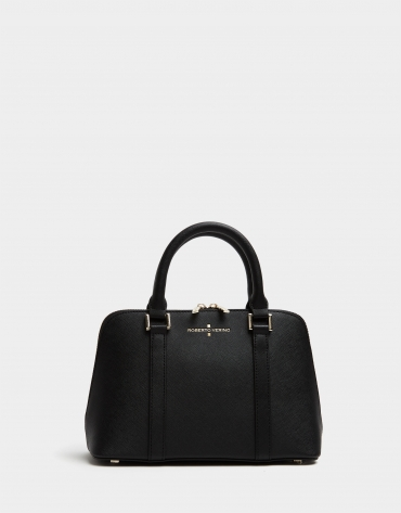 Black Saffiano leather Lupita handbag