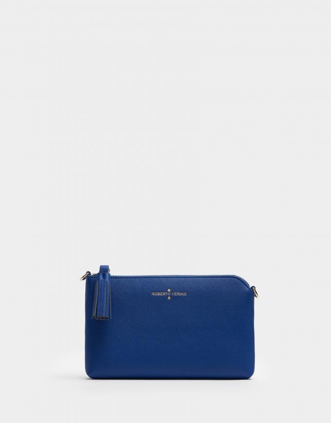 Bolso clutch Lisa Nano piel saffiano azul
