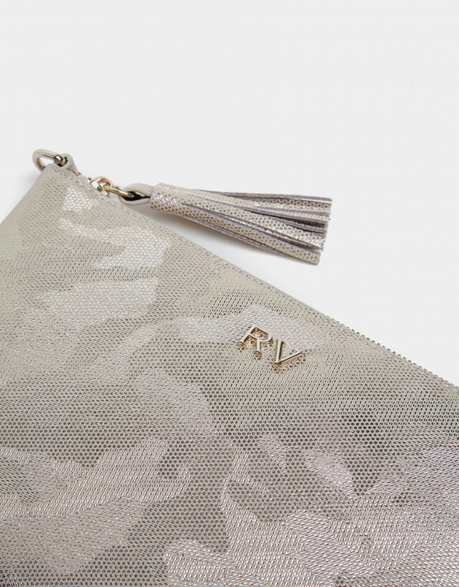 Shiny print Lisa Nano clutch bag