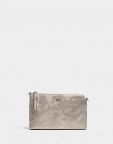 Shiny print Lisa Nano clutch bag