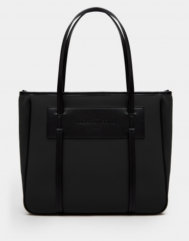 Bolso shopper Maxi Nora neopreno negro