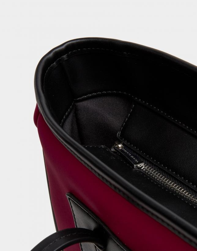 Aubergine neoprene Maxi Nora shopping bag