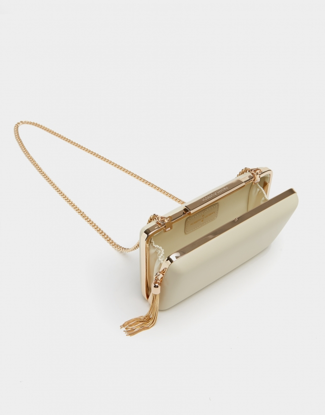 Natural Party clutch bag