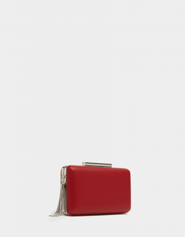 Red Party clutch bag