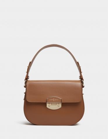 Tan leather Eugene Midi handbag