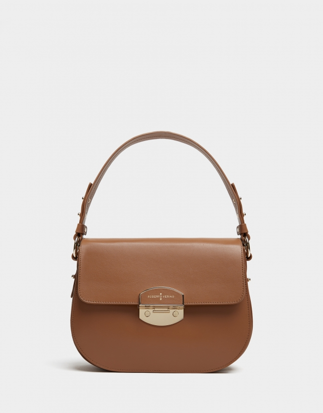 Tan leather Eugene Midi handbag