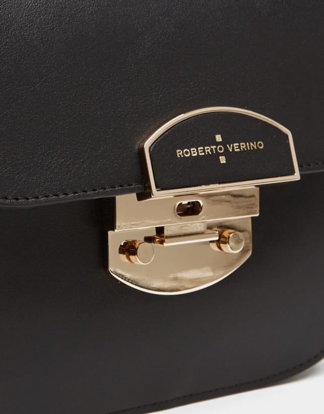 Brown leather Eugene Midi handbag