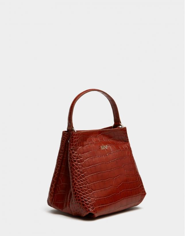Tan leather Dundee handbag