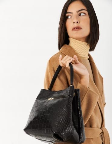 Brown leather Dundee handbag