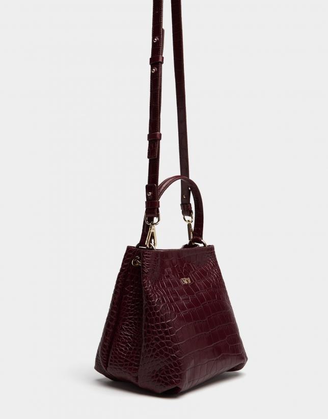 Poppy leather Dundee handbag