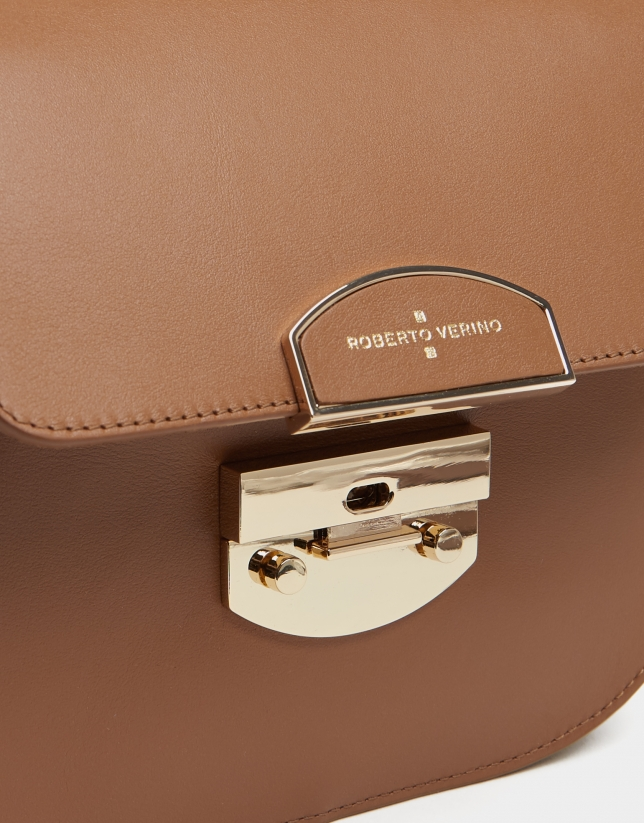 Tan leather Eugene Nano handbag